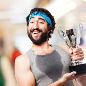 Winner sportsman — Stock Photo