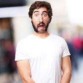 Crazy shocked man — Stock Photo