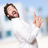 Crazy amazed man — Stock Photo