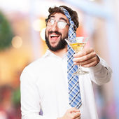 Fool man in a party — Stock Photo