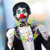 Clown with enjoying — Stock Photo