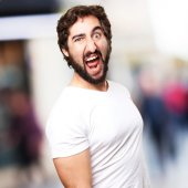 Crazy disgust man — Stock Photo