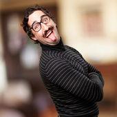 Pedantic happy man — Stock Photo