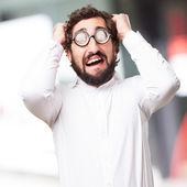 Worried fool man — Stock Photo