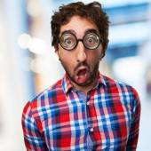 Shocked crazy man — Stock Photo