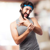 Sportsman wrist pain — Stockfoto