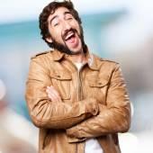 Crazy man joking — Stock Photo