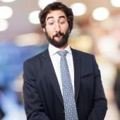 Businessman joking — Stock Photo