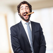 Successful businessman with a pure — Stock Photo