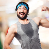 Crazy strong sportsman — Stock Photo