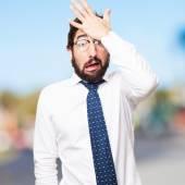 Worry businessman — Stock Photo