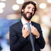 Satisfied businessman — Stock Photo
