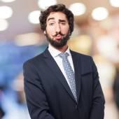 Arrogant businessman — Stock Photo