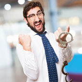 Businessman with handcuffs — Stock Photo