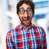 Surprised crazy man — Stock Photo