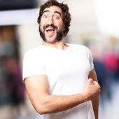 Crazy proud man — Stock Photo