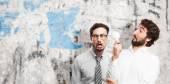 Crazy man having an idea — Stock Photo