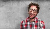Crazy man laughing — Foto de Stock