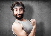 Crazy sportman portrait — Stock Photo