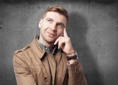 Adult man thinking — Stock Photo