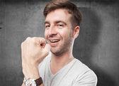 Sukces człowieka znak — Zdjęcie stockowe