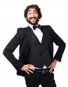 Elegant crazy man — Stock Photo
