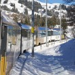 Golden pass train in Swiss Alps connects Montreux to Lucerne. — Stock Photo #60995981
