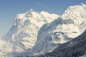 Wetterhorn mountain in winter, Grindelwald, Switzerland. — Stockfoto
