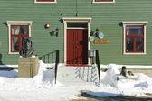 Polar explorer Roald Amundsen statue in Tromso, Norway. — Stock Photo