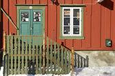 Souvenir shop entrance in downtown Tromso, Norway. — Stock fotografie