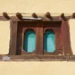 Window of a traditional Ethiopian house, Adwa, Ethiopia. — Stock Photo #61005649