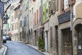 Calm narrow street of the medieval town of Villefranche de Conflent in France. — ストック写真