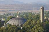 Iglesia de nuestra Señora María de Sión, el lugar más sagrado para los ortodoxos etíopes. Axum, Etiopía. — Foto de Stock
