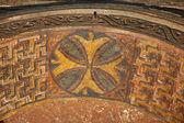 Ceiling decoration, rock-hewn church, Lalibela, Ethiopia. UNESCO World Heritage site. — Stock Photo