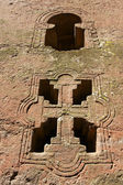 Window of the rock-hewn church, Lalibela, Ethiopia. UNESCO World Heritage site. — Stock Photo