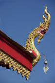 Roof of Wat Mani Phraison temple, Mae Sot, Tak province, Thailand. — Stock Photo