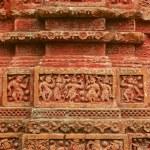 Terracota figures at Pancharatna Govinda Temple in Puthia, Bangladesh. — Stock Photo #61031601