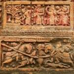 Terracota figures at Pancharatna Govinda Temple in Puthia, Bangladesh. — Stock Photo #61033749