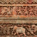 Terracota figures at Pancharatna Govinda Temple in Puthia, Bangladesh. — Stock Photo #61033779