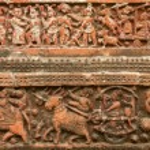 Terracota figures at Pancharatna Govinda Temple in Putia, Bangladesh. — Stock Photo #61033815