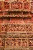 Terracota figures at Pancharatna Govinda Temple in Puthia, Bangladesh. — Stock Photo