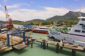 Ferry port in Donsak in Surat Thani province, Thailand. — Stock Photo