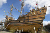 Nao Victoria, Magellan's ship replica in Punta Arenas, Chile. — 图库照片