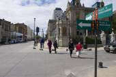 Central square of Punta Arenas, Chile. — Foto de Stock