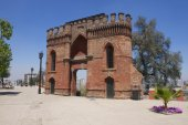 Red brick fort at Santa Lucia hill in Santiago, Chile. — Stock Photo