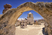 Exterior of the beautiful Parinacota village church, Putre, Chile. — Foto de Stock
