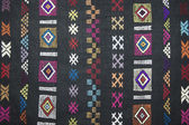 Traditional carpet pattern of Black Miao (Hmong) minority, Sapa, Vietnam. — Stock Photo