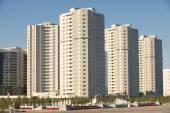 New residential area buildings exterior in Astana, Kazakhstan. — Stock Photo