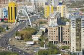 Aerial view to Astana city buildings in Astana, Kazakhstan. — Stock Photo