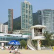 Постер, плакат: Life guard on duty at Stanley town beach in Hong Kong China